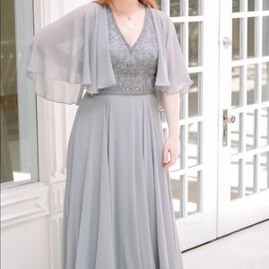 Grey Mother of the Bride/ Special Occasion Dress
